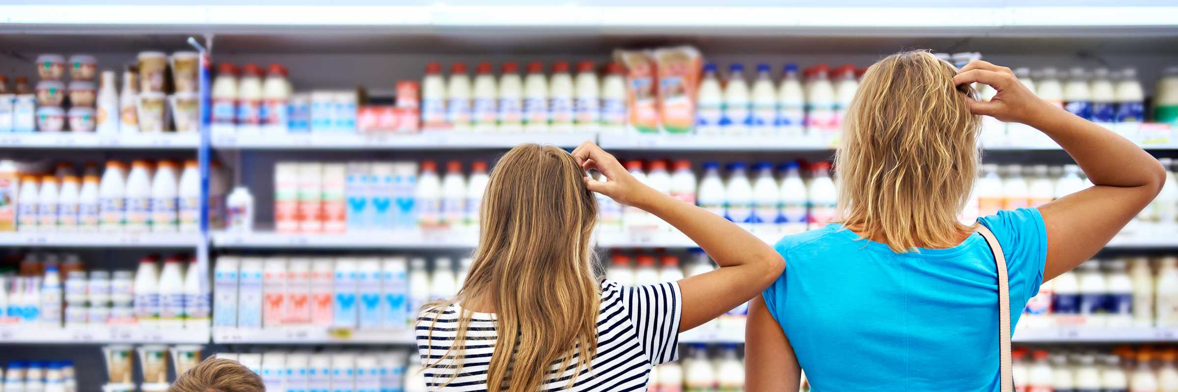 Choosing food in a shop