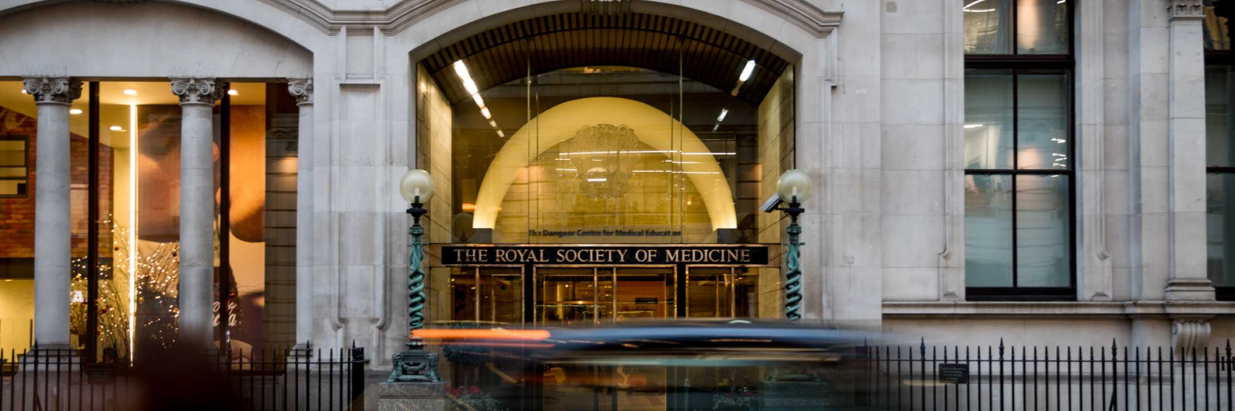 Outside the Royal Society of Medicine