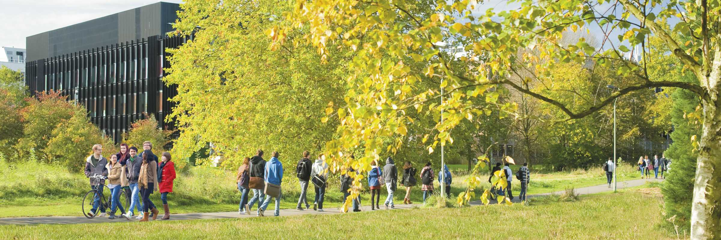 Students on University of Reading campus