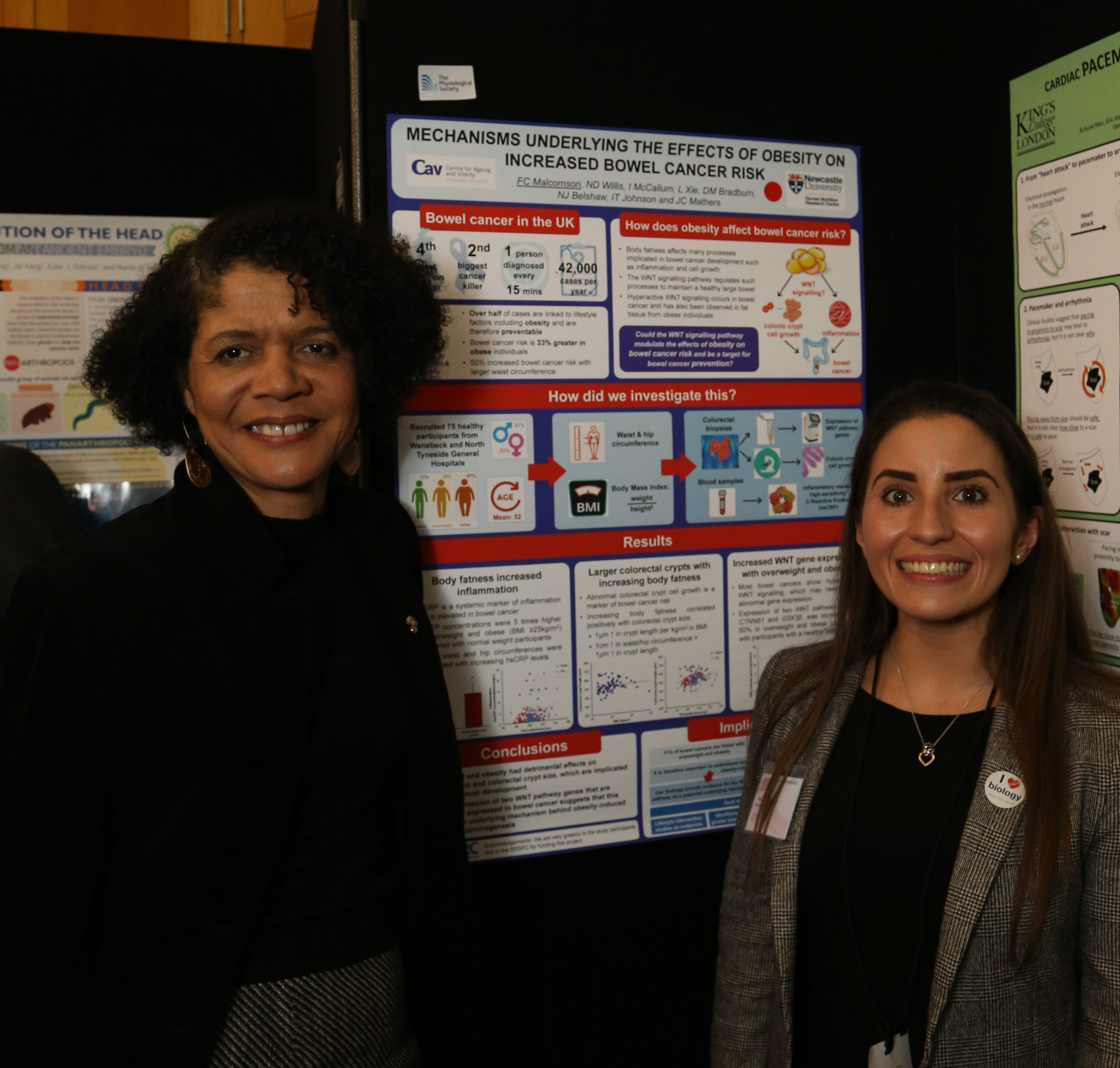 Fiona Malcomson, Human Nutrition Research Centre, Newcastle University (R) with Chi Onwurah MP, Shadow Minister for Business, Energy and Industrial Strategy (L)