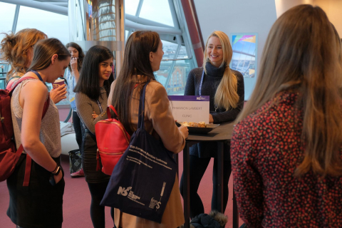 Rhiannon Lambert and delegates during the FENS workshop
