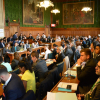 The packed room during the event