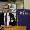 Mark Hollingsworth, the Society's CEO presents during the prize giving