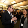 Mark Hollingsworth, the Society's CEO with Fiona Malcomson