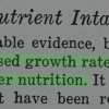Statement from Nutrition in relation to Stature, by Helen s. Mitchell Ph.d, Journal of the American Dietetics Association, Vol 40 No.6 June 1962.  71% agreed and 29% were unsure with the statement at the Archives Interactive table.