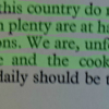 Statement from The Doctors Tell You What to Eat in Wartime, British Medical Association, 1940.  100% agreed with the statement at the Archives Interactive table.
