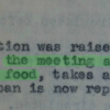 Statement from Ban on the Banana, minuted in the Fourth Informal Conference of Nutrition Workers, December 14 1940.  90% disagreed and 11% were unsure with the statement at the Archives Interactive table.
