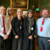 Photo of all the students who participated in VOF 2019.  L to R: Liam Oliver; Alex Williams; Cathrine Baungaard; Iman Khwaja and Dermot Liddy