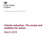 Front page of the PHE report