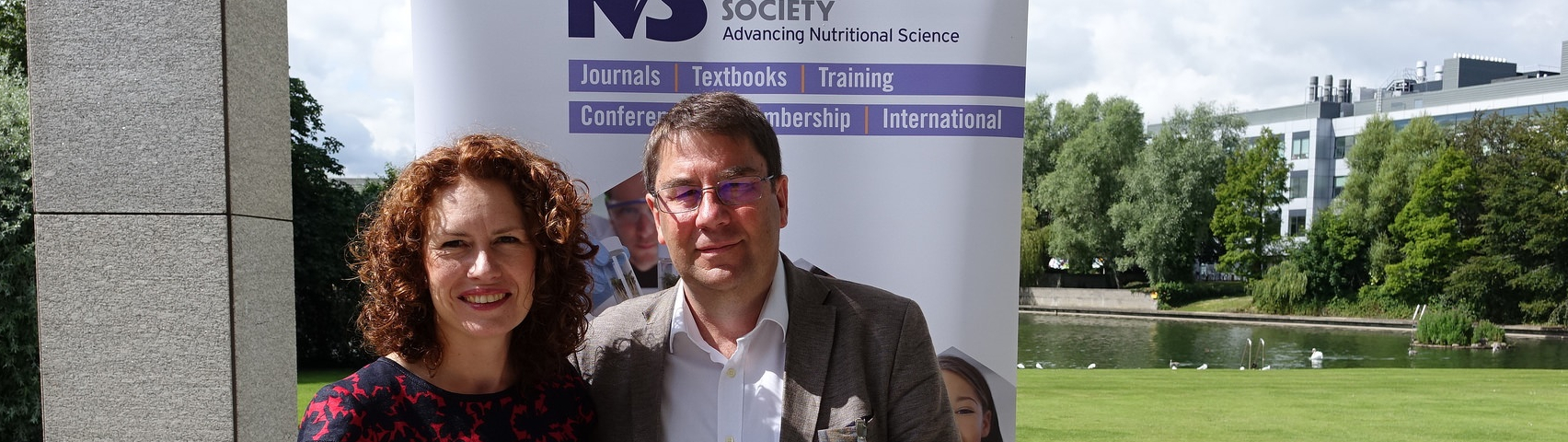 Dr Wendy Hall with Professor Philip Calder