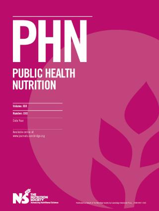Public Health Nutrition cover image