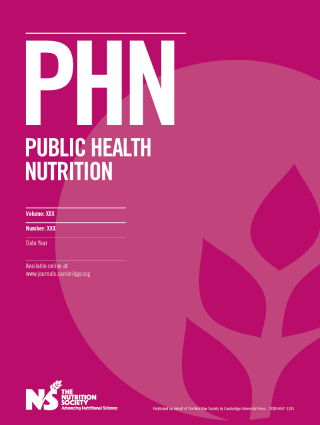 Public Health Nutrition cover image