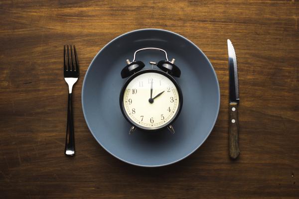 alarm clock on plate