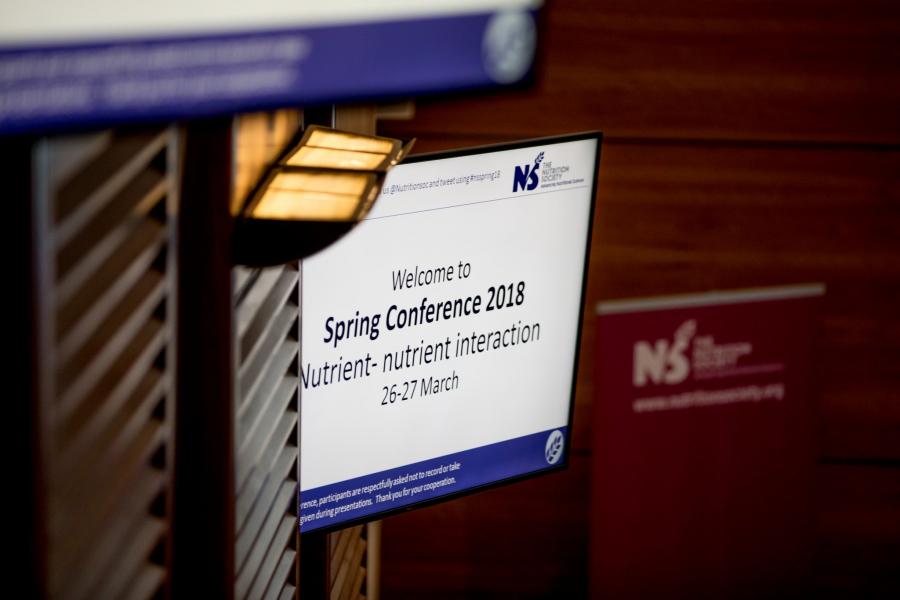 Welcome slide for Spring conference