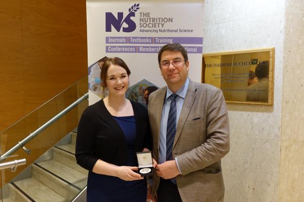 Dr Sinead Duggan (Cutherbertson Award winner 2016) with Prof Philip Calder