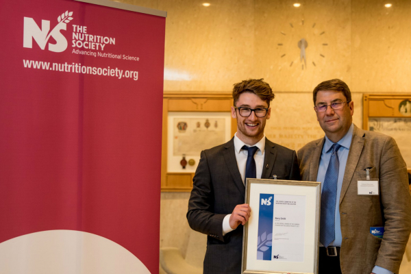 Professor Philip Calder and Harry Smith - 2017 Summer Studentship overall winner