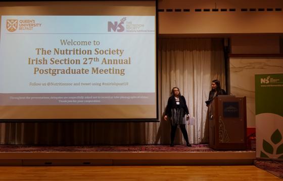 Danielle Logan and Leigh-Ann in the Welcome presentation.