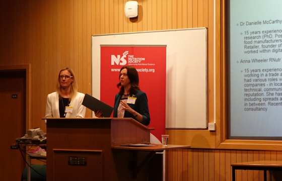Image: Dr Danielle McCarthy and Anna Wheeler presenting at the Student Conference 2017