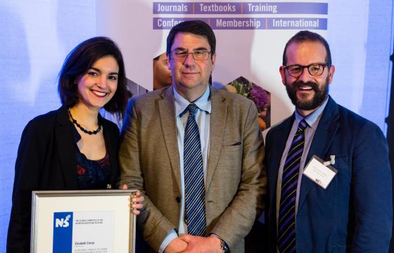 Elisabeth Cresta, Professor Philip Calder and Professor Kevin Whelan