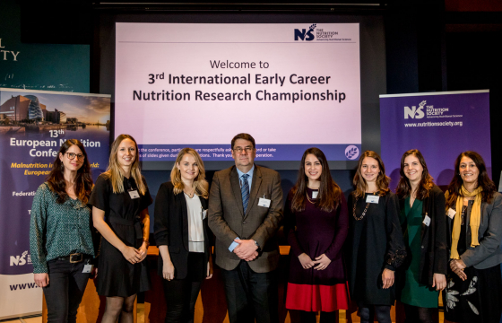 Early Career Research Championship participants with Professor Calder