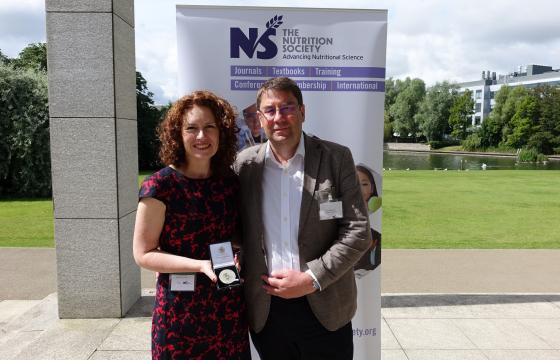 Dr Wendy Hall with Professor Philip Calder